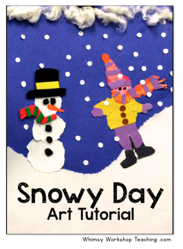 Snowy Day Art tutorial - Whimsy Workshop Teaching