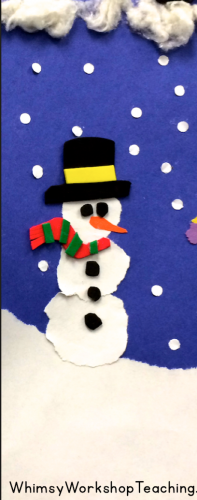 Snowy Day Art tutorial