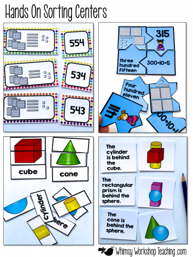 Hands On Centers for high engagement in math sense