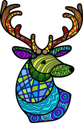 Math Doodles reindeer