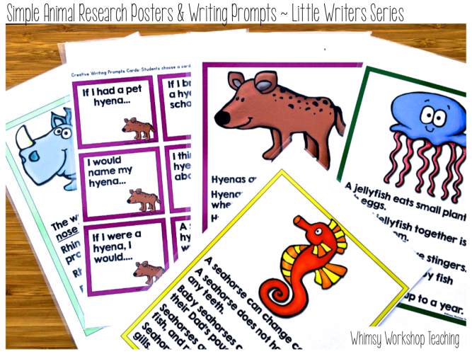 Animal Research Posters and Writing Prompts
