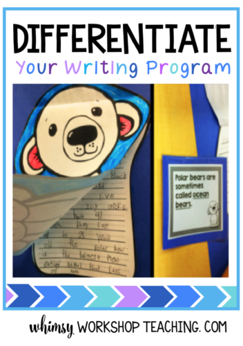 Differentiate your writing program by providing reference materials in differentiated forms (free complete sample set download about dolphins)