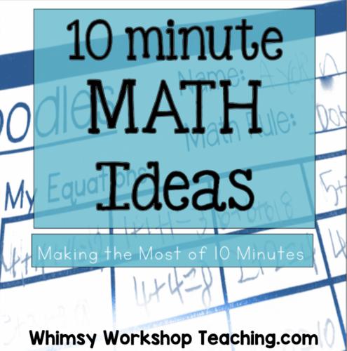 ten minute math ideas