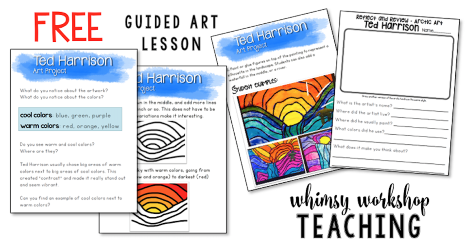Free art lessons with a teacher read aloud script for busy teachers