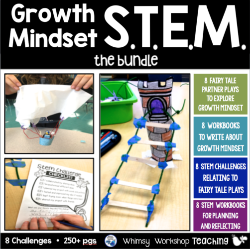 Growth Mindset and STEM are a perfect match in this bundle of stem challenges paired with fairy tale partner plays that explore growth mindset.
