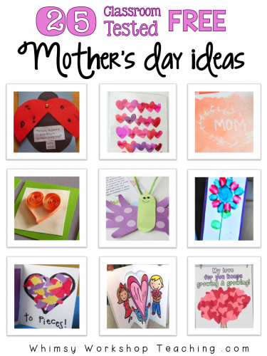 25 Classroom Tested FREE Mother's Day & Father's Day Ideas
