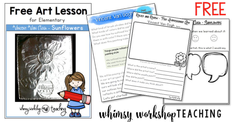 Free art lessons with a teacher read aloud script for busy teachers