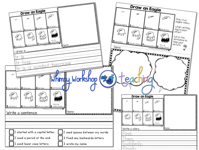 directed drawing templates for an easy literacy center all year