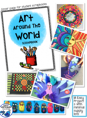 Art Around The World explores art from different cultures using 18 easy art lessons and literacy activities.