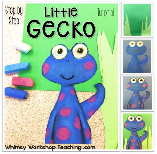 Art Tutorial Little Gecko Step By Step