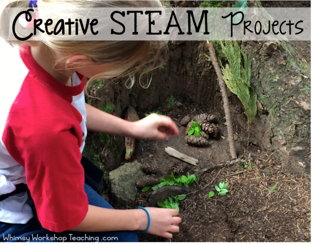 Creative STEAM projects. Let students lead the learning!
