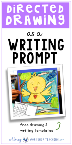 Lots of ideas about how to use directed drawing as a prompt for writing stories, sentences and descriptive writing in elementary grades (free directed drawing set)