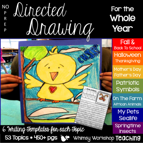 Three easy ways to us directed drawing for both art projects and literacy prompts in your classroom