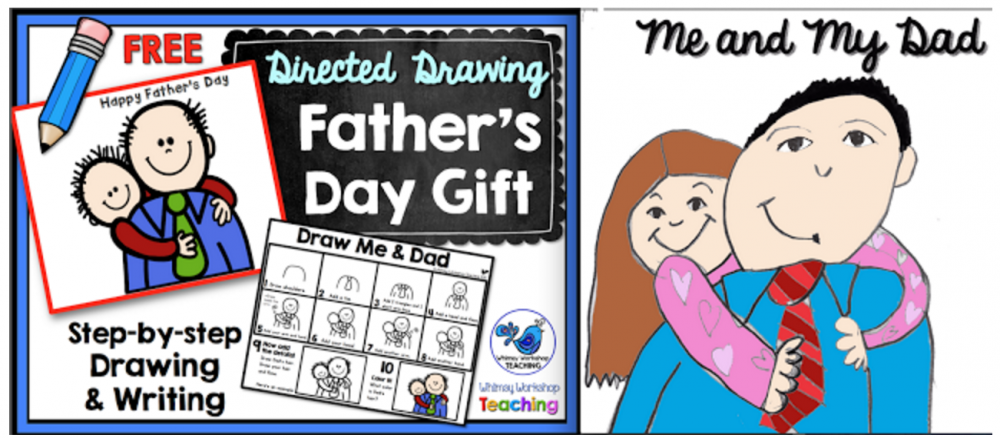 FREE Father's Day directed drawing and writing prompts
