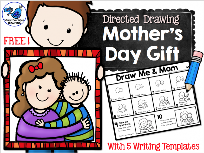 FREE Mother's Day directed drawing and writing prompts