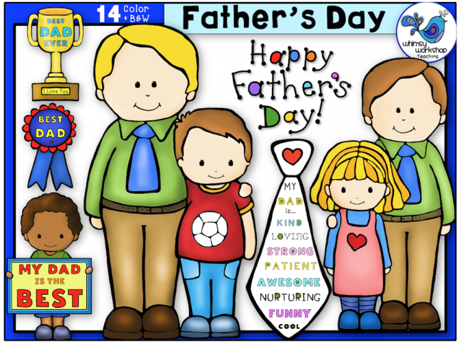 FREE father's day clip art set - make your own projects