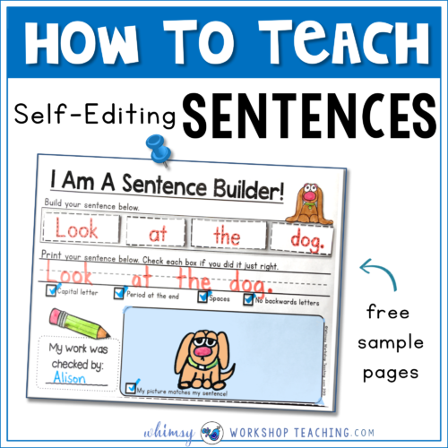 How to teach self editing sentences