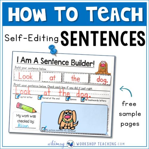 Sentences: Building and Self Editing