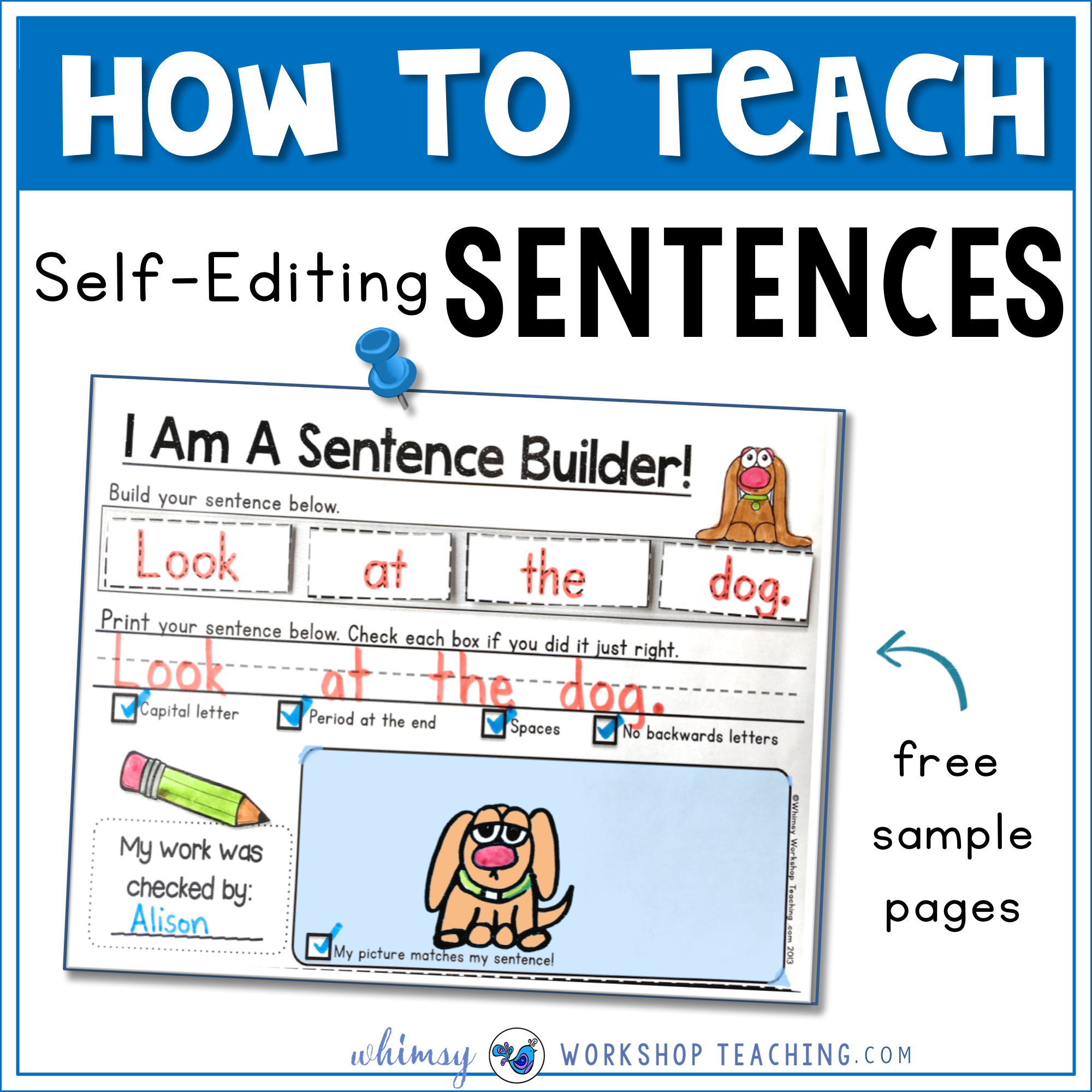 picture regarding Sentence Building Games Printable known as Sentences: Establishing and Self Modifying - Whimsy Workshop Education