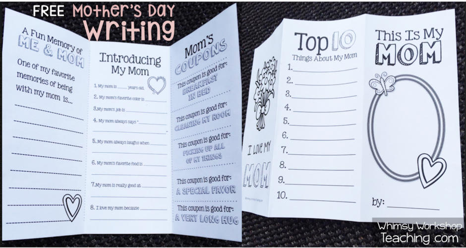 Mother's Day Writing and Drawing Collection. This set has directed drawing and 6 writing prompts for lots of choice! (free)