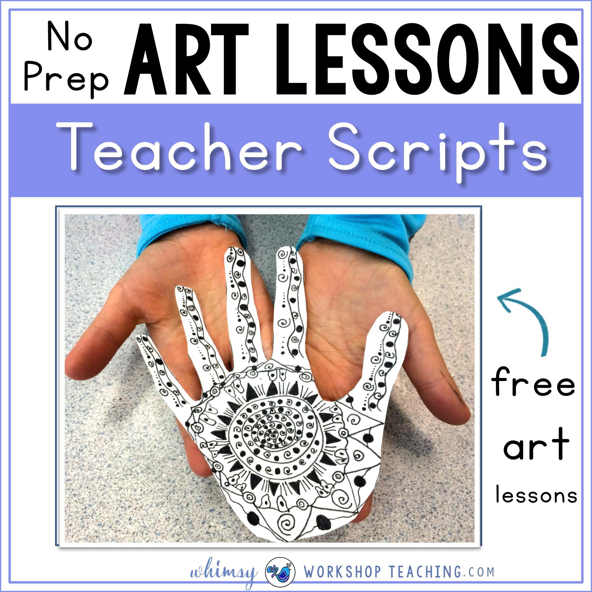 No prep art lessons using read aloud scripts
