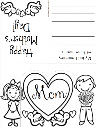 Pop Up Phonics Mothers Day Card