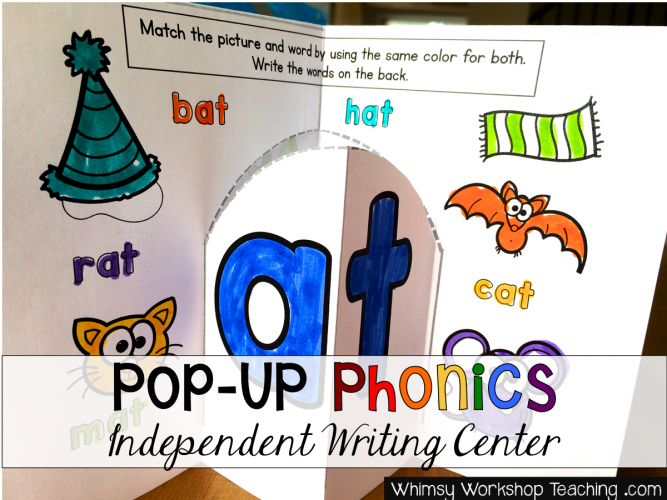 Pop Up Phonics Writing Center