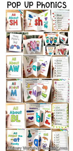 Pop Up Phonics Writing Center Bundle