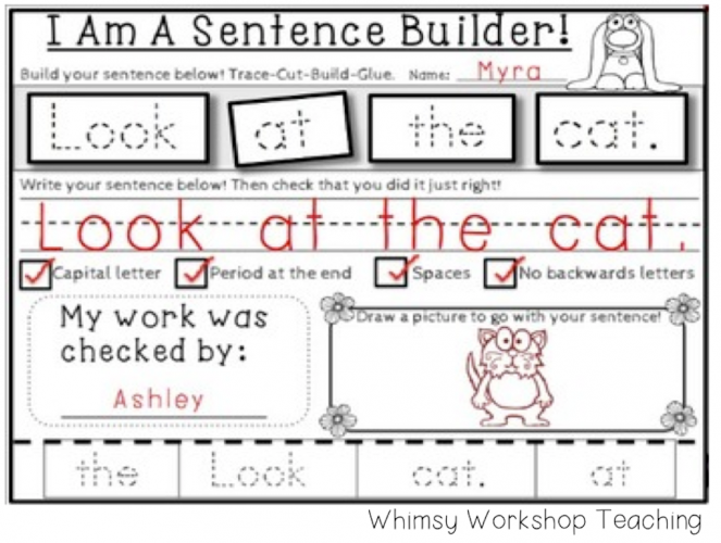 Build, print and self edit sentences through the whole year!