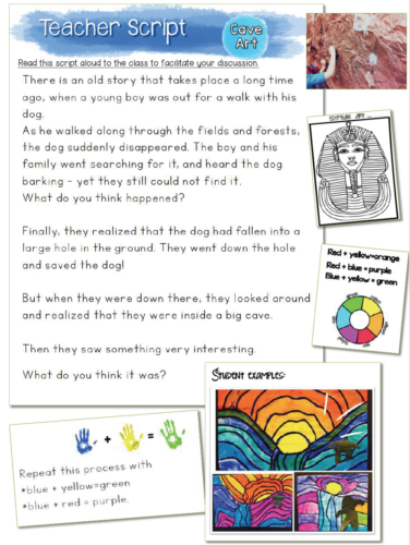 Art History for Elementary classrooms have teacher scripts to read aloud, simple lessons, literacy and coloring pages