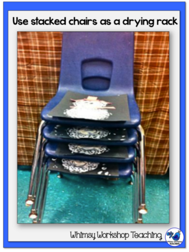 Use your stacked chairs as a drying rack overnight.