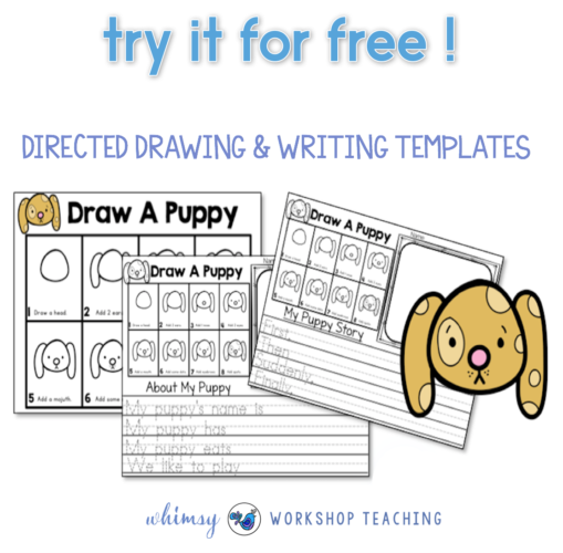 Directed Drawing and Writing Puppy