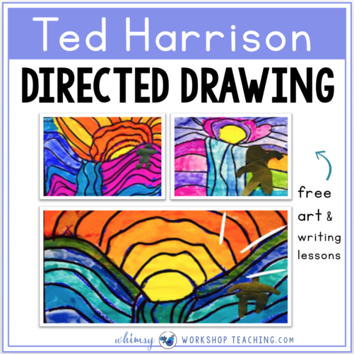 Free Directed Art Lessons for Ted Harrison with Writing Prompts included