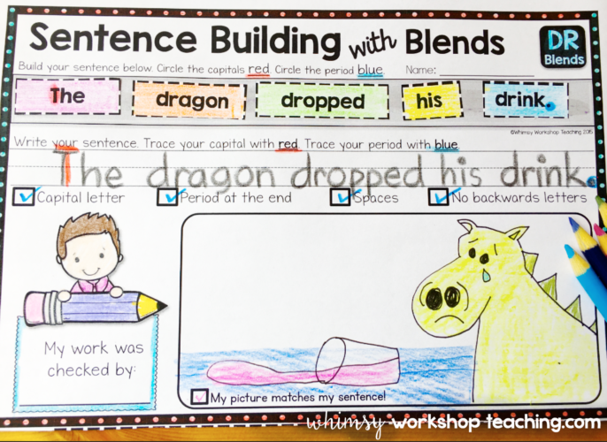 Sentences with Blends and other spelling patterns