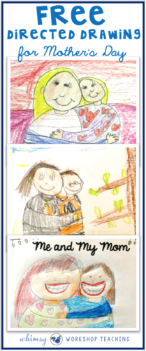 Free Mother's Day directed drawing lesson that students can complete independently. Also included are several different writing templates for mom (lots of cute ideas and several free downloads in this post!)