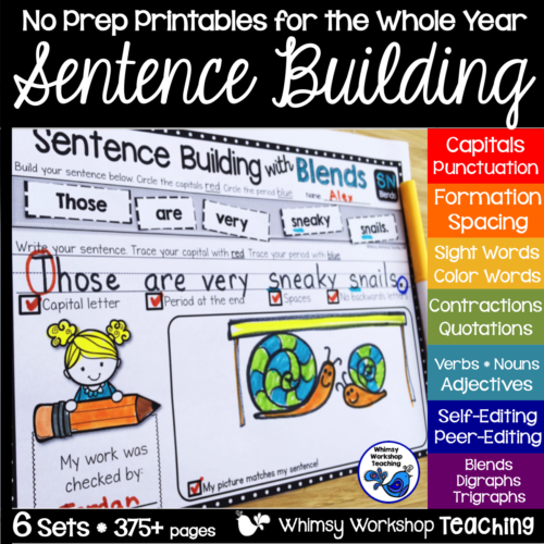 Sentence Building 6 Pack Bundle Cover