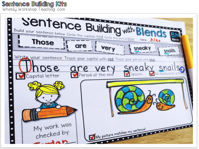 photo regarding Sentence Building Games Printable identify Sentences: Creating and Self Modifying - Whimsy Workshop Schooling