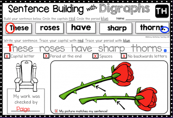 Sentence Building Kits for the entire year of morning work or literacy centers