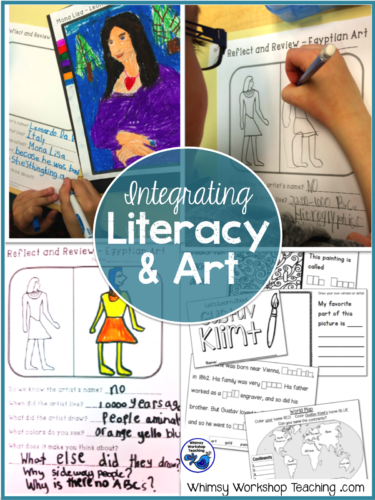 Ways to easily fit art into your curriculum by integrating it with literacy, science, social students and history