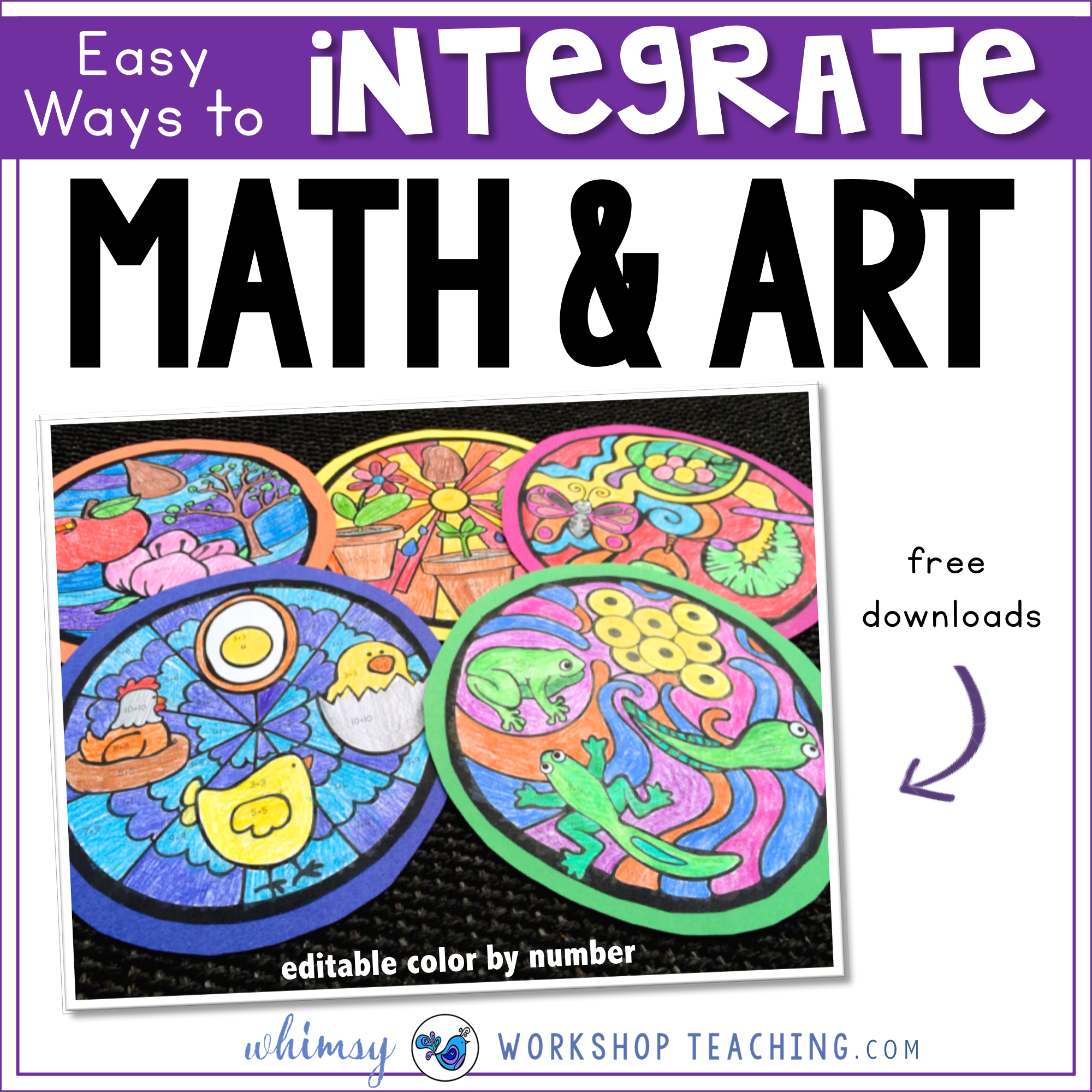 Easy ways to integrate math and art