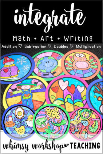 No prep math and art projects with writing integration activities for kindergarten, grade one or grade two (free pages)