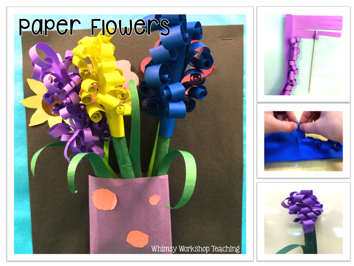 Paper hyacinth flowers are simple to make once students have mastered a few steps