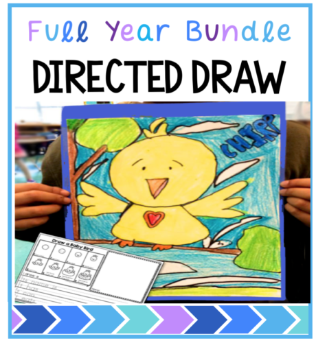 Directed drawing with differentiated writing prompts for the whole year - seasonal themes included
