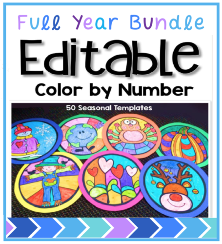50 editable seasonal templates to create your own math or literacy coloring templates and art displays