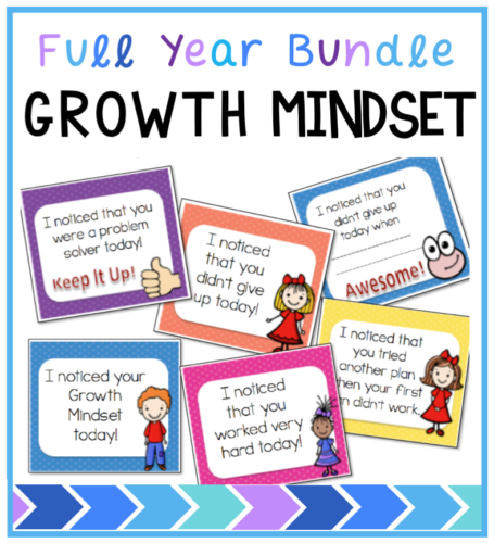 Engaging activities, posters, banners, coloring, math and literacy projects focusing on a growth mindset classroom