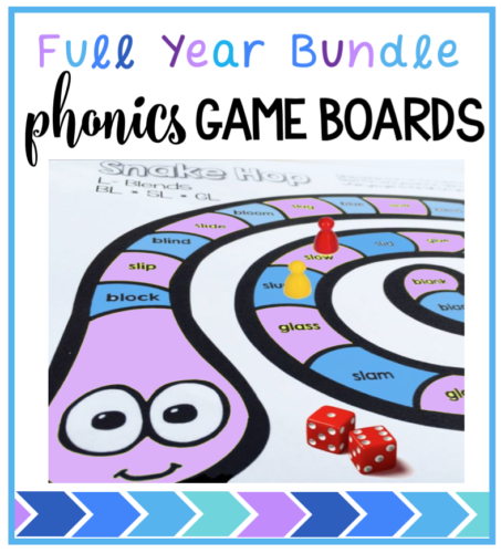 Comprehensive set of phonics game boards covering spelling patterns and sight words - just print and play all year