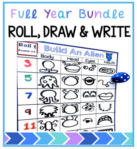 This class favorite will fill your writing or math centers for the whole year as student practice math while building different creatures and then writing about them