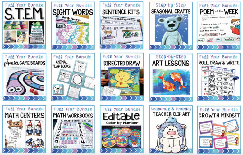 Top resources for literacy, math, STEM, Growth Mindset, Art and more!