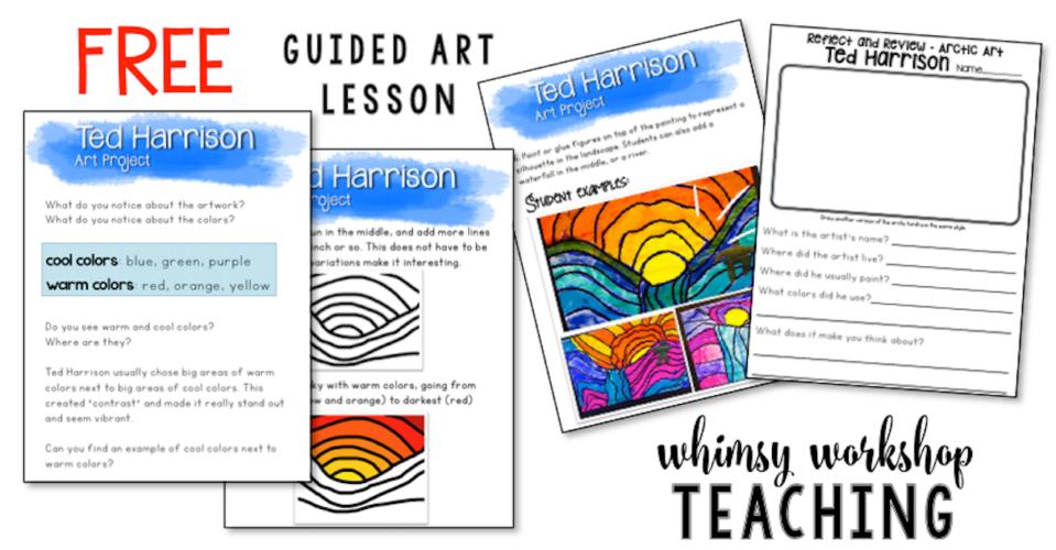 Freebie download - Ted Harrison Art lesson!