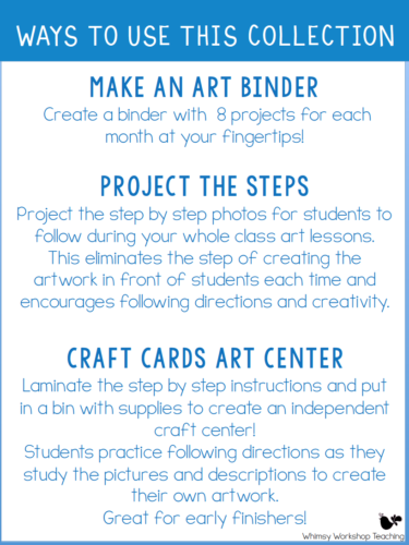 How to use your step by step seasonal craft ideas in the classroom